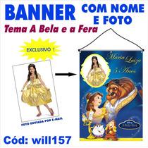 Banner Impresso Em Lona Com Foto - A Bela E A Fera Will157