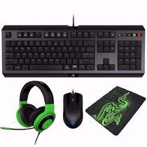 Kit Gamer Razer Teclado+mouse+headset+mouse Pad