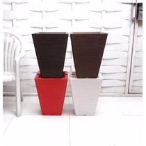 Kit Com 4 Vasos Para Planta E Flores De Polietileno 45x35 Cm