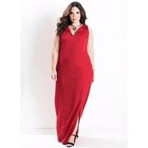 Vestido Longo Com Fenda Vermelho Plus Size Festa Gordinhas
