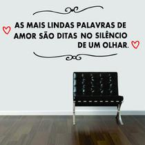 Adesivo De Parede Frase Amor Coração Cabeceira Cama Casal