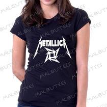 Baby Look Camiseta Metallica Personalizado Blusa Feminina