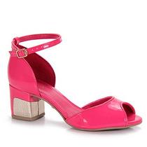Sandália Salto Feminina Lara - Pink