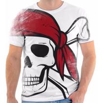 T Shirt Camisa Camiseta Caveira Osso Cruzado Pirata 01