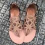 Rasteirinha Baixa C/ Rebite Calcanhar Fec Marca Leluel Shoes