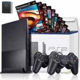 Play2 + Controle + Jogos/playstation 2