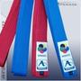 Faixa Karate Kumite-wkf Approved 2 / 250cm Azul