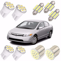 Kit Lâmpadas Led New Civic Luz Pingo Placa Teto Ré Torpedo