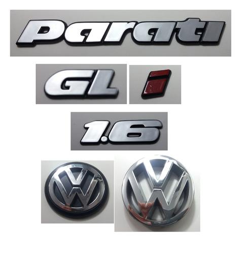 Kit Emblema Volkswagen Parati Gl 1.6 I Vw Mala Grade 91 � 97