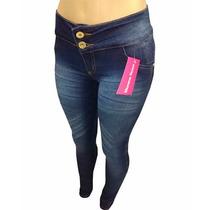 Calça Jeans Feminina Morena Rosa Escuro Mesclado