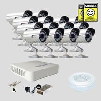 Kit Monitoramento Dvr Stand Alone 16 Canais Jfl 14 Cameras