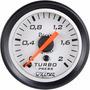 Medidor Pressão Turbo 2kg Manômetro Turbina Willtec 52mm Br