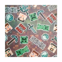 Tnt P/ Festa Estampado Minecraft 15 Metros(1,40m Largura)