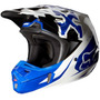 Capacete Fox V2 Anthem Azul 59/60 Rs1