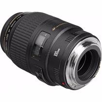 Lente Canon Ef 100mm F/2.8 Macro Usm - Garantia Canon Brasil