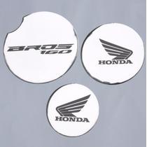 Kit Adesivo Relevo Tuning Motor Cromado Moto Honda Bros 160