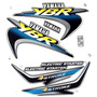 Jogo Kit Adesivo Yamaha Ybr125 2001 Verde + Brinde