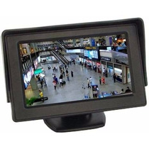 5 Tela Monitor Automotivo Lcd Tft 4.3 / Carro Camera De Ré