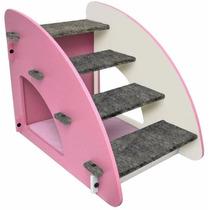 Escada Para Cães E Gatos Madeira Luxo 4 Degraus