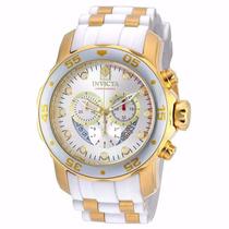 Relógio Invicta Pro Diver 20291 Branco E Dourado Masculino