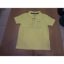 Camisa Ellus Kids Polo Piquet E Asa Vista Contraste. Amarelo