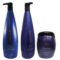 Linha A Shampoo 1l +condicionador 1l +máscara 500g Aneethun