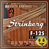 Encordoamento Violão 12 Cordas Strinberg Kadu Som Frete 9,00