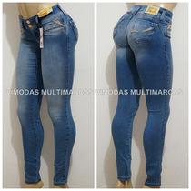 Calça Sawary Jeans Estilo Pit Bull Modela Bumbum Com Strass