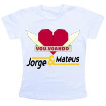 Camiseta Baby Look Feminina - Jorge E Mateus Vou Voando