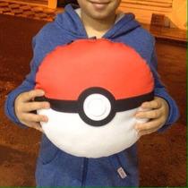 Travesseiro Almofada Pokemon Pokebola Incrivel 33cm