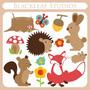 Kit Papel Digital Scrapbook Blackleaf Floresta Animais 59
