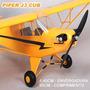 Aeromodelo Piper J3 Cub Clássico 1,40mt C/ Eletronica Pnf