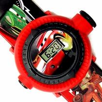 Relógio Infantil Pulso Disney Carros Original Com Projetor