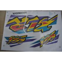 Jogo De Faixa Honda Xlr125 1998 Branca