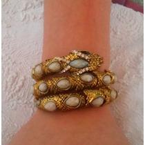Bracelete Cobra Ouro Velho