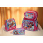 Kit Mochila Infantil Minnie Costas + Lancheira + Estojo
