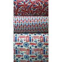 Tecidos 100%algodão Londres