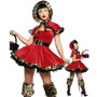 Fantasia Feminina Halloween Chapeuzinho Vermelho (veludo)