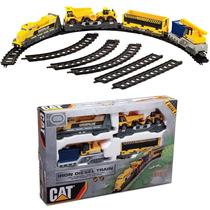 Ferrorama Trem Elétrico Caterpillar Cat Iron Trilhos Vagões