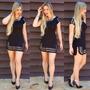 Vestido Preto Blogs Verão Com Aplicação De Tachas Douradas