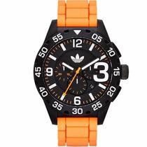 Relógio Adidas Adh2914/8pn Pulseira Silicone Cronógrafo Nfe