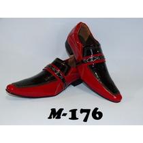 Sapato Masculino Luxo Em Couro Modelos (176 A 182)