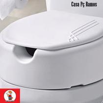 Assento Sanitário Elevado 13,5cm Idosos Deficientes