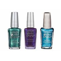 Kit Esmaltes Wild Shine Wet N Wild Nail Color 3 Produtos