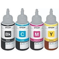 Kit 4 Cores Refil Tinta Original Epson L110 L210 L355 L200
