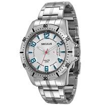 Relógio Masculino Seculus Long Life 28495g0svna1 50mm Prata