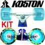 Truck Invertido 180mm + Rodas Koston Gel 83mm 80a Longboard