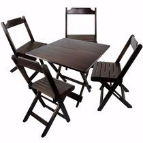 Jogos De Mesas 70x70 Com 4 Cadeiras Dobraveis