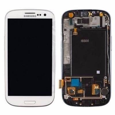 Display Lcd Frontal Galaxy S3 I9300 Tela Touch Branco Azul