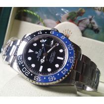 Relógio Eta Modelo Gmt Master Ii Batman + Caixa
